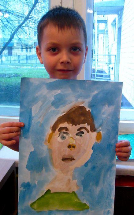 Даня и автопортрет